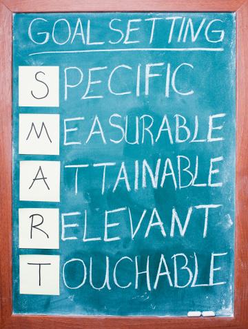 Chalk - Art Equipment「Goal setting concept on blackboard」:スマホ壁紙(10)