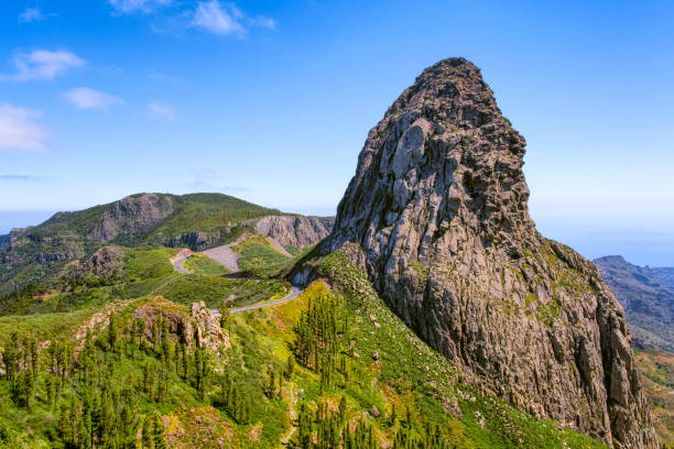 View of Roque de Agando on on Canary Islands La Gomera - Spain:スマホ壁紙(壁紙.com)