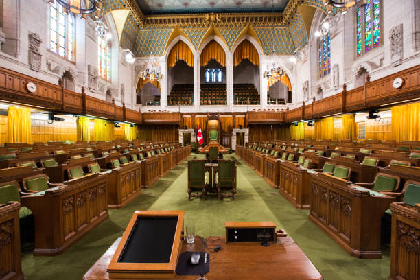 The House of Commons in the Canadian Parliament Building:スマホ壁紙(壁紙.com)