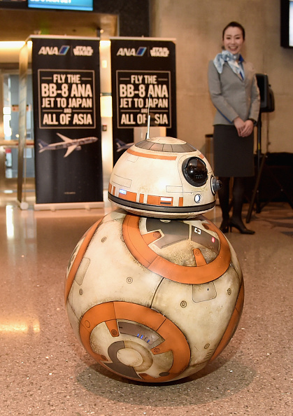 Star Wars「ANA's BB-8 Themed Jet Lands In Los Angeles For STAR WARS: THE FORCE AWAKENS」:写真・画像(0)[壁紙.com]