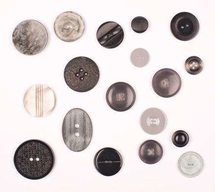 Button - Sewing Item「B & W Vintage Buttons」:スマホ壁紙(1)