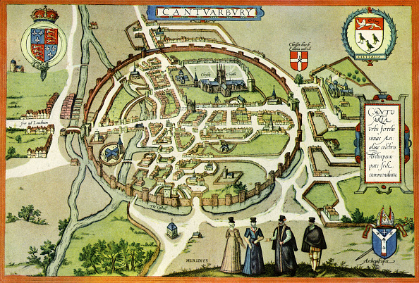 City Life「Plan of Canterbury in the 16th century」:写真・画像(7)[壁紙.com]