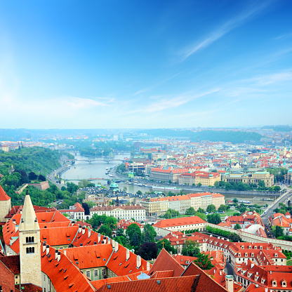 St Vitus's Cathedral「Panoram of Prague」:スマホ壁紙(0)