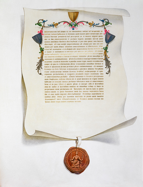 Document「Facsimile Edition Of The Magna Carta English Charter 1215 (1816)」:写真・画像(3)[壁紙.com]