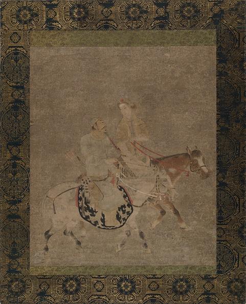 Circa 14th Century「Man And Woman On Horseback. Creator: Unknown.」:写真・画像(5)[壁紙.com]