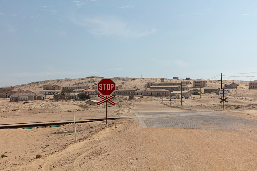 Namib-Naukluft National Park「The road to Kolmanskop - remote, former diamond-mining town near Luderitz in southwestern Namibia」:スマホ壁紙(2)