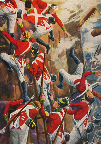 Patriotism「The Northumberland Fusiliers Storming The Ramparts Of San Vincente」:写真・画像(8)[壁紙.com]