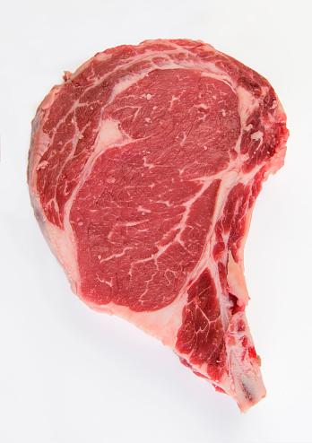 Marbled Meat「Raw steak on white background」:スマホ壁紙(0)