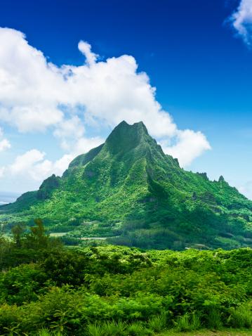Volcano「Moorea Island Roto Nui Volcanic Mountain French Polynesia」:スマホ壁紙(5)