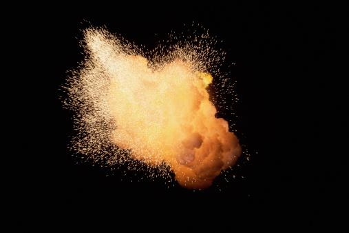 Fireball「Huge fireburst exploding with emanating sparks」:スマホ壁紙(12)
