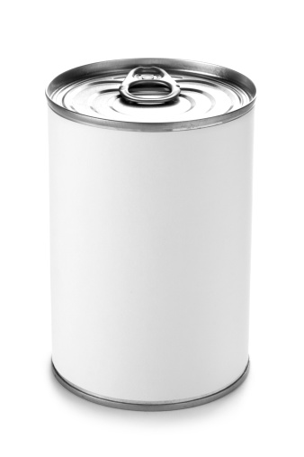 Cylinder「Tin can with a peel lid on a white background」:スマホ壁紙(15)