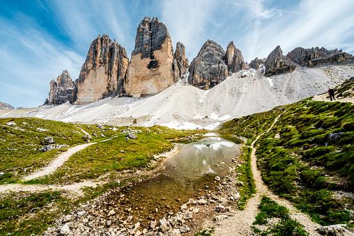 子供「トレンティーノのドロミテをハイキング」:スマホ壁紙(14)