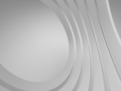 波「3 d の空白の背景に抽象的な建築物」:スマホ壁紙(0)