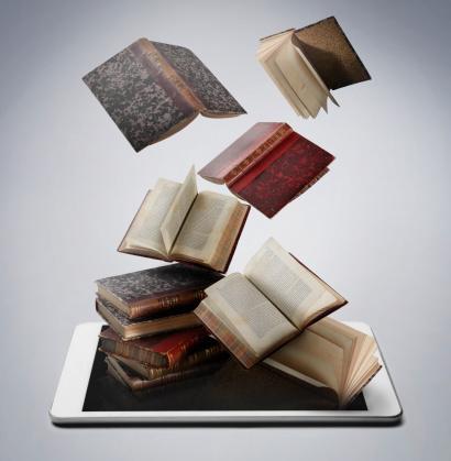 Falling「Book and digital tablet」:スマホ壁紙(12)