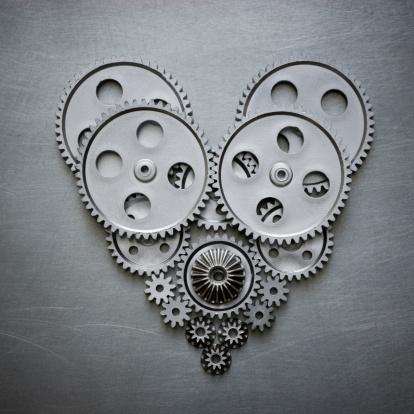ハート「heart made out of gears」:スマホ壁紙(11)