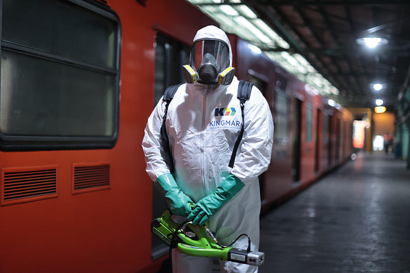 Mexico「Mexico City's Subway Cleaning Efforts Against Coronavirus Spread」:写真・画像(11)[壁紙.com]