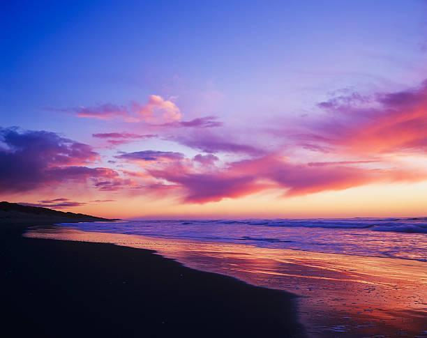 Colours of a sunset colour Indian Beach:スマホ壁紙(壁紙.com)