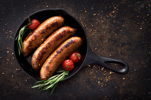 Meat Dish「Sausages in a skillet」:スマホ壁紙(11)