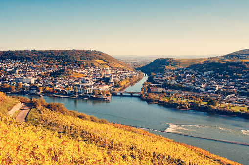 Rhineland-Palatinate「View to Bingen and the Nahe river」:スマホ壁紙(11)