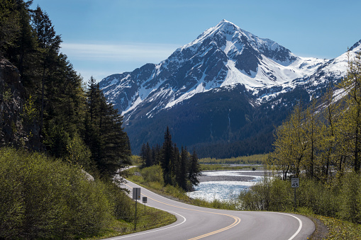 Exit Glacier「Highway to Exit Glacier and Harding Icefield Kenair Fjords National Park」:スマホ壁紙(2)