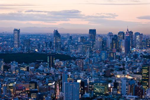 Japan「東京の高層ビル街の夜景」:スマホ壁紙(0)