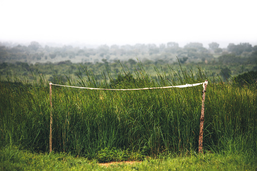 Goal Post「Goal posts on football field in rural Africa.」:スマホ壁紙(1)
