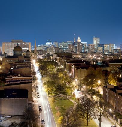 Boulevard「Bolton Hill Neighborhood with Baltimore City」:スマホ壁紙(7)