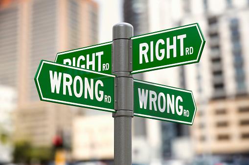 Choosing「Right Road and Wrong Road street signs」:スマホ壁紙(14)