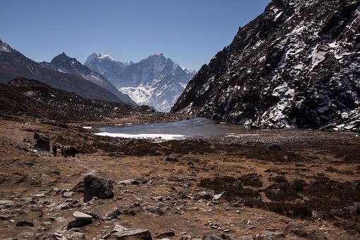 Khumbu「The first Gokyo Lake, Everest Base Camp via Gokyo Trek, Nepal」:スマホ壁紙(14)