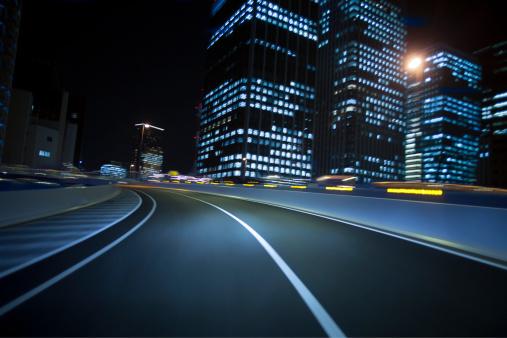 Dividing Line - Road Marking「Driving Tokyo at night」:スマホ壁紙(1)