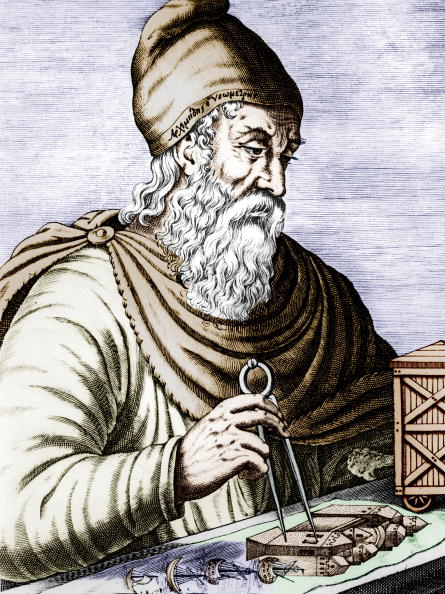 Sicily「Archimede (287-212 avJC), greek sicilian physicist and mathematician, engraving colorized document」:写真・画像(9)[壁紙.com]