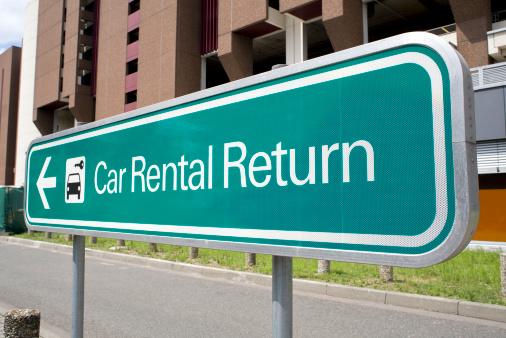 Car Rental「Car rental return sign」:スマホ壁紙(18)