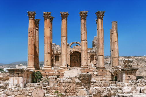 The Oval Piazza「Artemis temple, Jerash, archeological site」:スマホ壁紙(12)