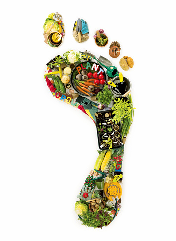 Recycling「Footprint created from garden tools and vegtables」:スマホ壁紙(15)