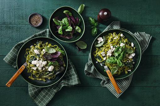 Vegetarian Food「Vegan Gluten-Free Creamy Spinach Pasta」:スマホ壁紙(8)