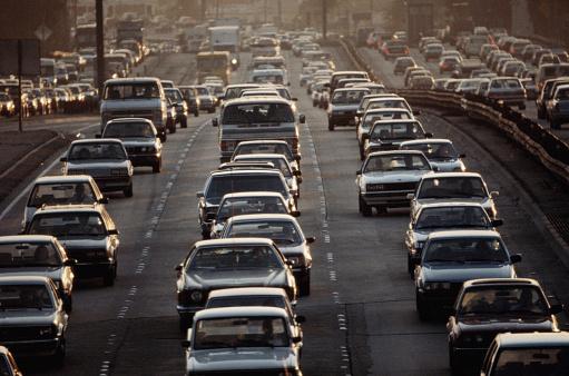 Traffic「Rush Hour Traffic on Harbor Freeway」:スマホ壁紙(3)