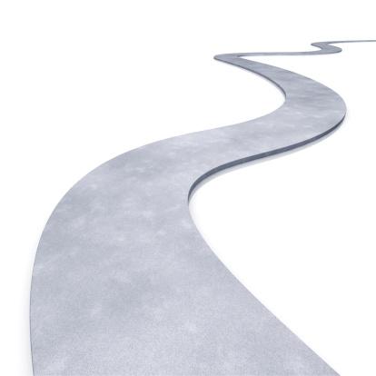 Winding Road「Empty road on a white backgroundd」:スマホ壁紙(14)