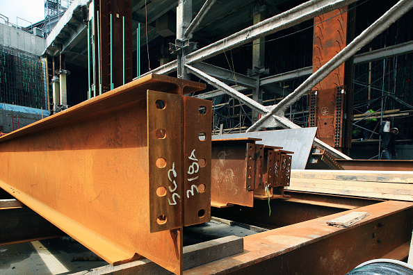 Durability「Steel beams, World Trade Centre construction site, Lower Manhattan, New York City, USA」:写真・画像(10)[壁紙.com]
