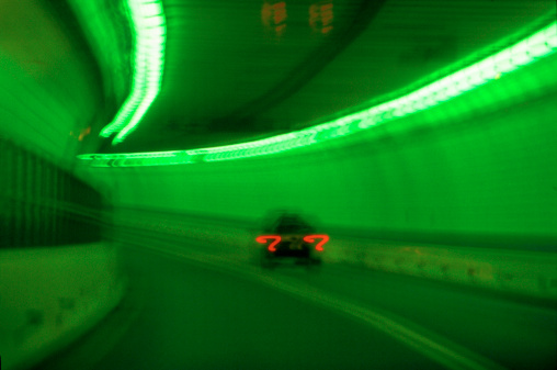 Motor Racing Track「blurred view of moving traffic in a tunnel (toned)」:スマホ壁紙(12)