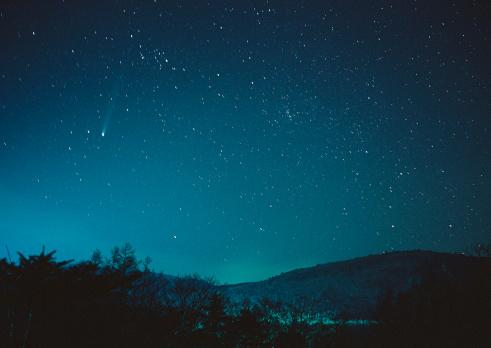 star sky「Hyakutake Comet」:スマホ壁紙(18)