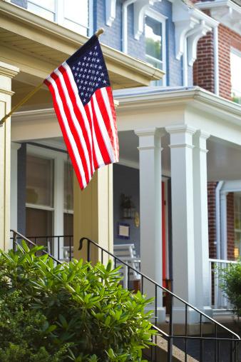 Fourth of July「Patriotic American House」:スマホ壁紙(13)
