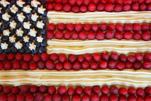 Patriotism「Patriotic American Flag Dessert Cake」:スマホ壁紙(8)