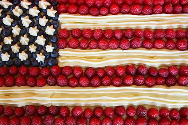 Patriotic American Flag Dessert Cake:スマホ壁紙(壁紙.com)