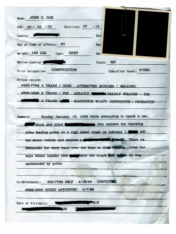 Crime「Police Record with Blank Mugshots」:スマホ壁紙(4)