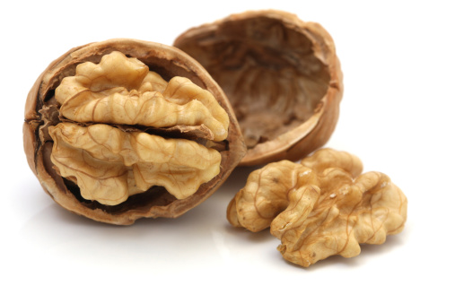 Nut - Food「Walnuts Isolated on White Background」:スマホ壁紙(0)