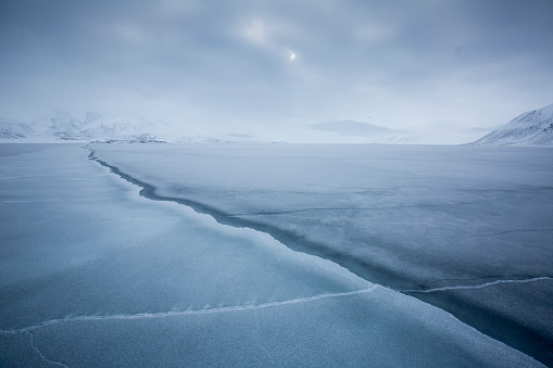 Pack Ice「cut in the pack ice, Spitzbergen, Svalbard」:スマホ壁紙(7)