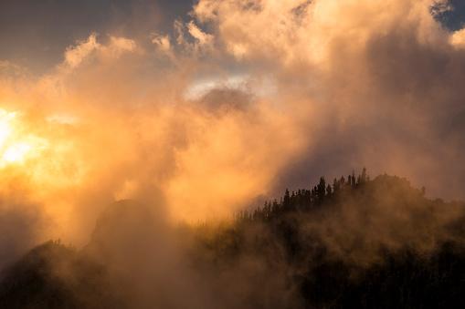 Fantasy「Spain, Tenerife, landscape in Teide National Park in backlight」:スマホ壁紙(16)