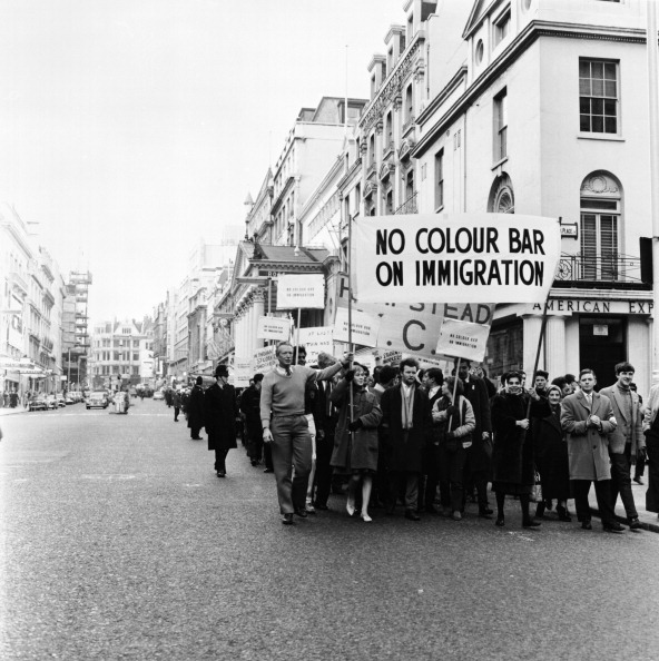 Black History in the UK「Demonstration march, London, 1962. Artist: Henry Grant」:写真・画像(9)[壁紙.com]