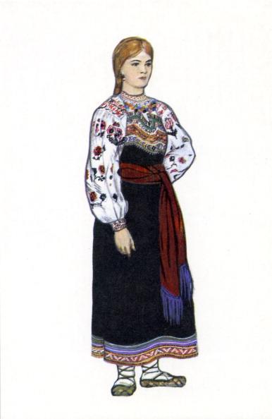 Traditional Clothing「Russian traditional dress - illustration by N. Vinogradova.」:写真・画像(12)[壁紙.com]