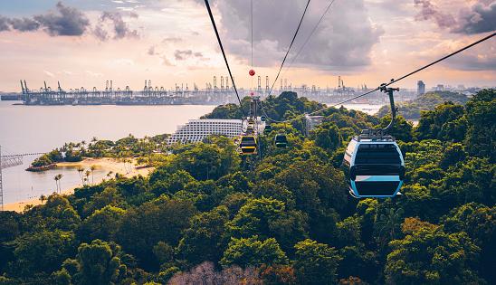 Aerial tramway「Cableway trip in Sentosa Island, Singapore」:スマホ壁紙(18)